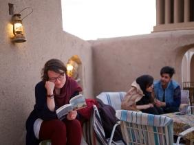 Sandar Barão Nobre - Acordo Fotográfico - Irão 2019 - Yazd - Terraço Art House - Leitora - 8